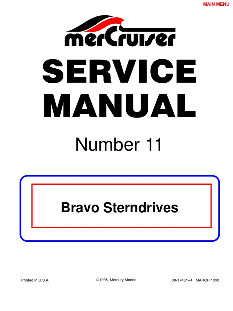 mercruiser bravo 3 service manual pdf